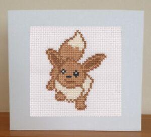 Cross Stitch Card Kit - Pokemon - Eevee