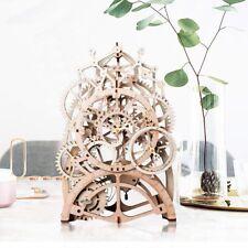 DIY Wooden Mechanical Pendulum Clock Model Kits Vintage Decor for Table Desk Toy