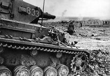 WW2 Photo German Pzkpfw. IV Stalingrad  WWII Russia