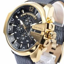 Diesel Mega Chief Leather Chronograph Mens Watch DZ4344