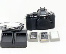 Olympus OM-D E-M5 16.1 MP Digital Camera BLACK Body ONLY 3k SHUTTER COUNT