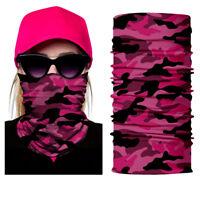 Motorcycle New Red Women Face Shield Sun Mask Balaclava Neck Gaiter Neckerchief