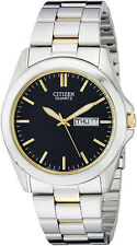 Citizen BF0584-56E Men's Two Tone Black Dial Casual Day Date Analog Watch