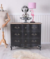 Dresser Baroque Cabinet With Drawers French Chateau Wooden Black Wardrobe