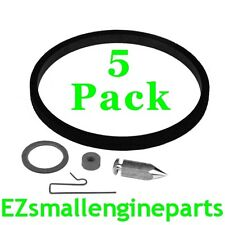 5 PACK OF INLET NEEDLE KITS FOR TECUMSEH / ESKA 631021B, 12263, 49-916, 525-212