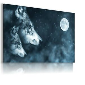 FANTASY WORLD WOLF  STARS MOON Canvas Wall Art F313 MATAGA  UNFRAMED-ROLLED