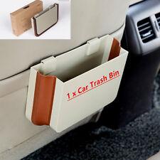Car Seat Back Trash Bin Multifunction Garbage Dust Case Holder Box Bin Beige