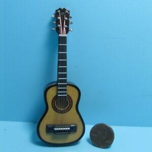 Dollhouse Miniature Guitar Music Instrument 4 Inch M0201-4