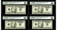 "$10 2003 Federal Reserve *Star Note Boston ""4 Notes"" PMG 66 EPQ Gem Uncirculated"