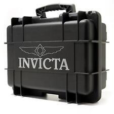 NEW Invicta 8 Slots Diver Box Jet Black Impact Dive Case Waterproof
