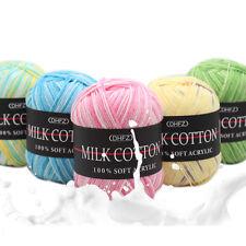Mixed Job Lot 23 color 50g DK knitting Crochet Milk soft Baby cotton wool Yarn