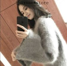 Womens Cashmere Blend Warm Tops Pullover Fashion Loose Sweater Turtleneck Casual