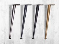""" Seventies "" H41cm Leg Conical for Table Iron, Hairpin Legs, Design 50 Years"