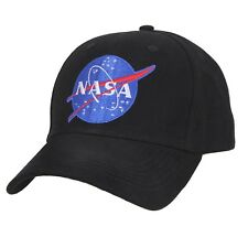 NASA Black Low Profile Baseball Cap Space Hat Ballcap Rothco 3798