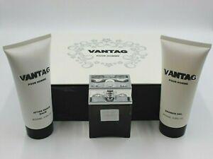 Vantag Pour Homme Eau De Toilette, After Shave Balm, Shower Gel Gift Set