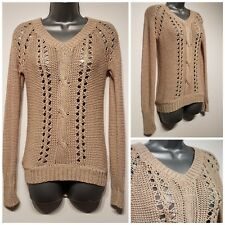 Size 10 Jumper PAPAYA Natural Beige Fitted Excellent Condition Women's Casual