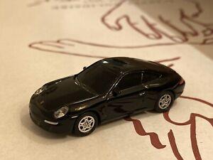 Dachbodenfund Modellauto Welly Porsche 911 Carrera (997) 6cm Schwarz