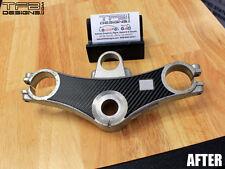 Carbon Fiber Triple Clamp Decal 1998 - 2001 Honda VFR800 VFR 800 - 3M Vinyl