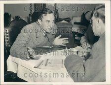 1940 Count Rene de la Taille & Georges Bonnet of France Press Photo