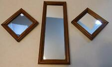 SET OF 3 VINTAGE HOME INTERIORS WOOD FRAME WALL MIRRORS
