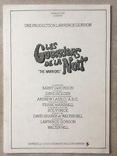 Les Guerriers de la Nuit (Dossier de presse EO 1980) The Warriors (Walt. Hill)