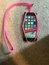 Universal Silicone Pink Lanyard phone And Card Neck Strap