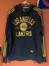 Adidas Log Angeles Lakers | Hoodie Sweatshirt | Men Large | Gray | NBA