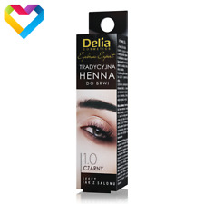 DELIA HENNA Traditional Powder Tint For Eyebrows 1.0 BLACK Professional 2g