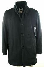 "Men's G-Star 'Decoy Wool Garber Trench' Coat size S in Black 36-38"" RRP £275"