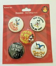 Disneyland Resort Button Set Mint on Card Pinback Pins 5 New