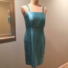 Max Mara Aqua Silk Cotton Shantung Sheath Dress 12