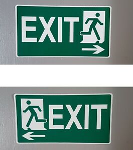 Exit Signs Stickers for Pub Offices Shops, Left / Right, 200mm x 100m Waterproof