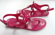 Coach Helma Patent Leather Jelly Sandals FUSCHIA PINK 6 MINT