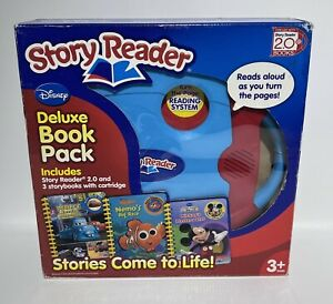 Disney Story Reader 2.0 Deluxe Book Pack w 3 Storybooks Mickey Nemo Mater 2010