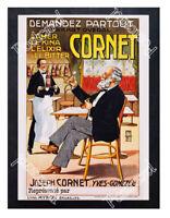 Historic Cornet Drinks Advertising Postcard