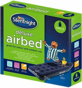 Silentnight Deluxe Single Airbed. Built In Pillow Built in Footpump.
