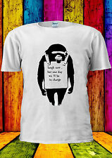 Banksy Laugh Now But One Day Monkey T-shirt Vest Tank Top Men Women Unisex 627