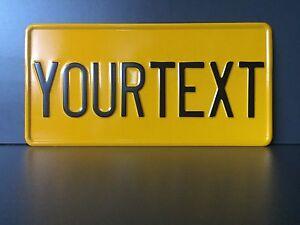 US AUTO USA CAR  Kennzeichen, Schild, Nummernschild , Gelb,  DEIN WUNSCH TEXT