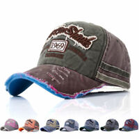 Women Men Vintage Baseball Cap Men Women Adjustable Denim Distressed Trucker Hat