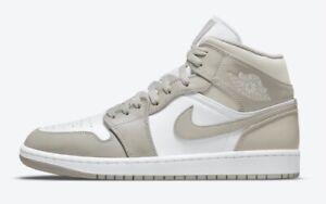 "Nike Air Jordan 1 Mid Shoes ""Linen"" 554724-082 Men's 10.5 NEW"
