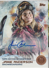 Jamie Anderson 2014 Topps US Olympic Team autograph auto card 4 /50