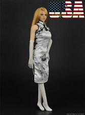 "1/6 Sexy Cheongsam Dress Set For 12"" TBLeague PHICEN HotToys Female Figure ❶USA❶"