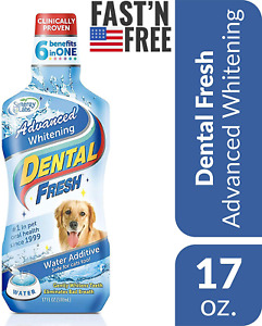 Dental WATER ADDITIVE 17oz Oral Care Fresh Breath Eliminate Plaque For Dogs Cats