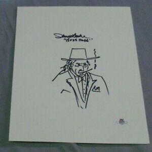 Sorrell Booke, Boss Hogg, Dukes of Hazzard, Signed Self Portrait, Clean