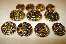 ANTIQUE  BLAZER   METAL  BUTTONS   ONE  SET  PERFECT  FOR  JACKET  SUIT  COAT
