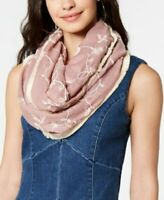INC International Concepts embroidered floral infinity loop women's scarf -Pink