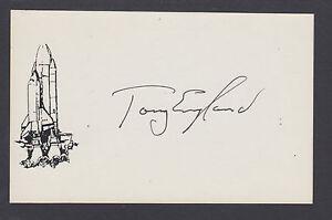 Tony England, American NASA Astronaut, signed space card