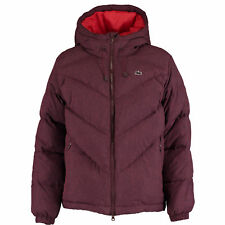 LACOSTE LIVE Women's Maroon Down Hooded Jacket / Coat - size Medium rrp £240