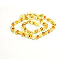 45cm Collier Baltique d'ambre adulte perle élégante cognac couleurs + CERTIFICAT