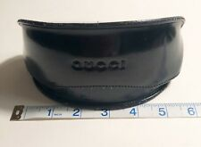 Gucci Soft Sunglass/Eyeglass Case Black Flip Top New Synth. Leather